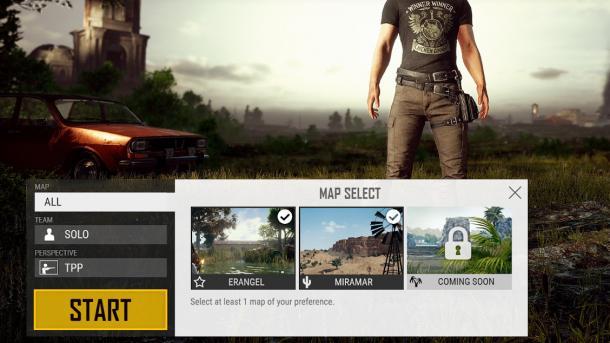 PUBG: Spieler können bald Spiele-Karten wählen