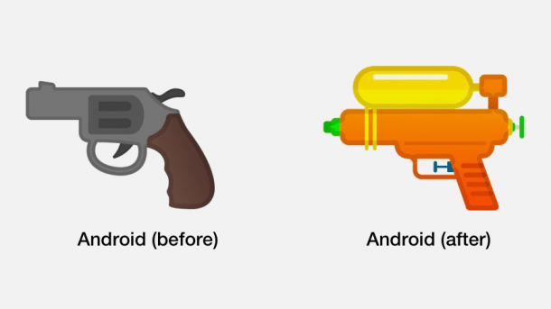 Google ersetzt Pistolen-Emoji mit Wasserpistole