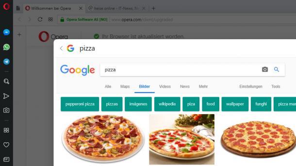 Browser: Opera 52 mit Sofortsuche