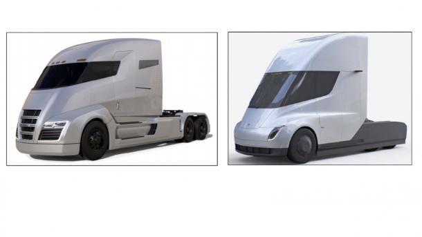 Tesla soll für seinen Elektro-Lkw abgekupfert haben – Nikola fordert 2 Milliarden US-Dollar