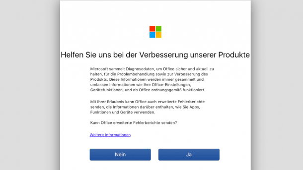 Office übermittelt Diagnosedaten: Microsoft bessert nach, Zwang bleibt bestehen