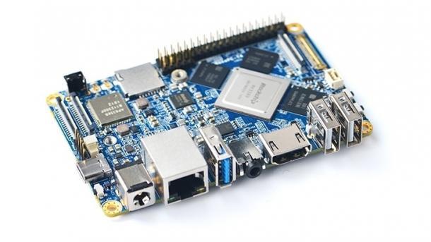 NanoPC T4: ein blaues Board