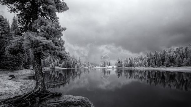 Schwarzer See, Kärnten, Infrarotaufnahme