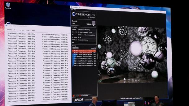 Intel Xeon W mit 28 Kernen