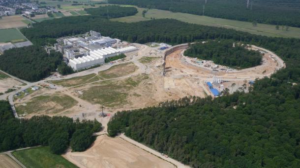 FAIR: Riesige Baustelle für Teilchenbeschleuniger in Darmstadt