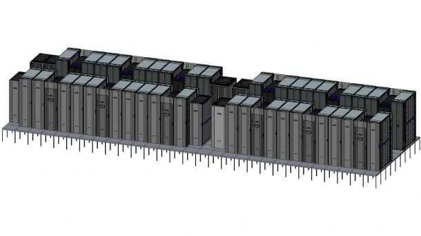 Rendering des Supercomputers Astra am Sandia National Laboratory