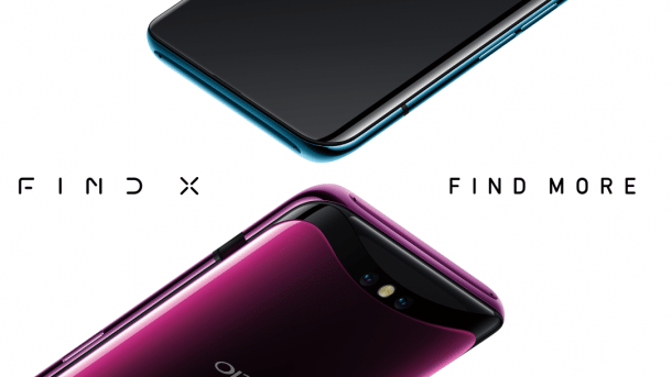 Oppo Find X: Ausfahrbare Sensoren-Schiene macht den Notch überflüssig