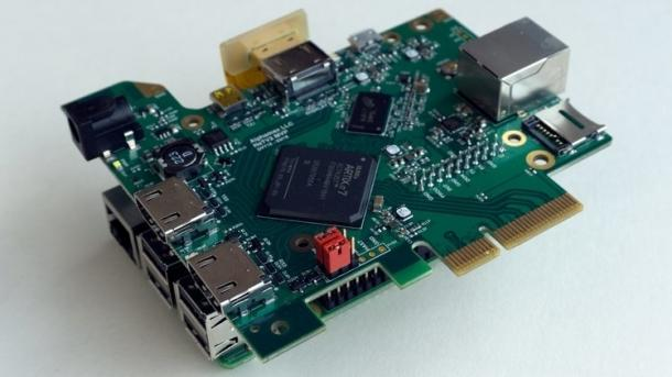 NeTV2-Board auf einem Raspberry Pi