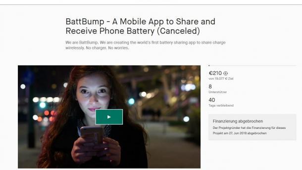 Skurrile BattBump-Kampagne: Smartphone-Akkus per NFC laden
