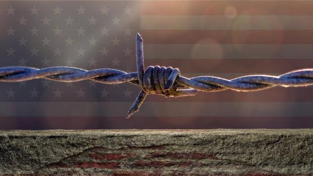 Grenze, USA, Mauern, Stacheldraht