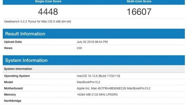 Schnelles unbekanntes MacBook in Benchmark-Liste aufgetaucht
