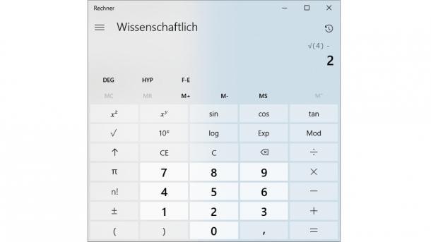 Windows 10: Taschenrechner berechnet Quadratwurzeln nun endlich korrekt