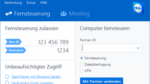 Teamviewer hält Zugangspasswort im Speicher vor
