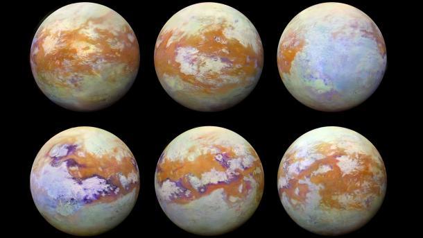Saturn-Sonde Cassini: Infrarotaufnahmen zeigen die Oberfläche von Titan