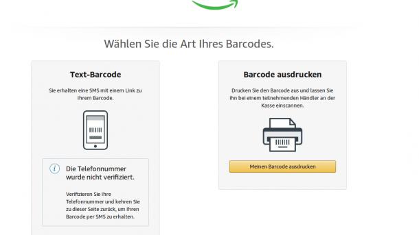 """""""Vor Ort aufladen"""": Amazon ermöglicht indirekte Barzahlungen"""