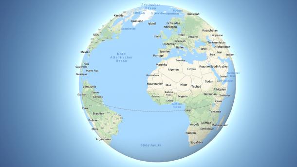 Keine flache Erde mehr: Google Maps wechselt zu Globus-Ansicht ...