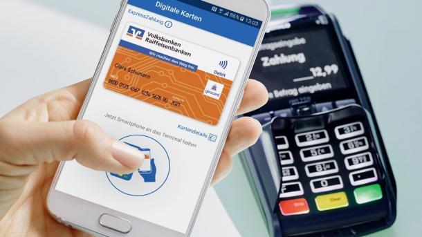 Volksbanken bieten Mobile Payment an
