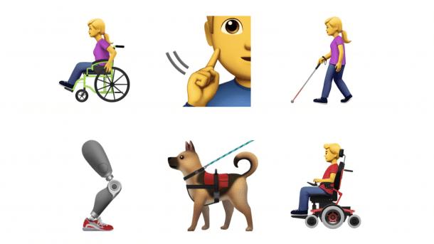 Apples Barrierefreiheit-Emoji sollen in Unicode-Standard einfließen