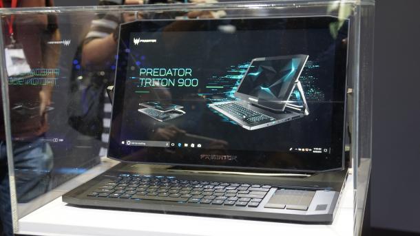 Predator Triton 900: Gaming-Notebook mit drehbarem Touchscreen