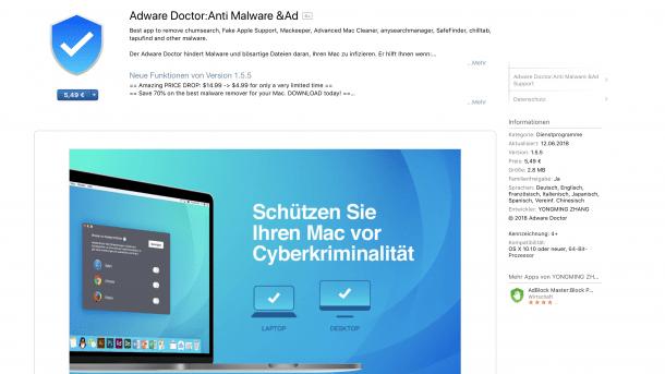 """Adware Doctor"" aus Apples Mac App Store klaut Browser-Verlauf"