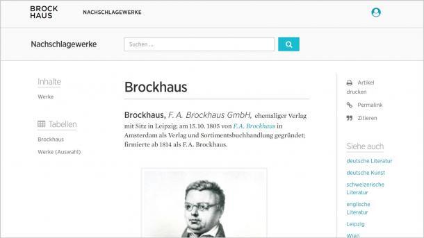 Online-Lexikon: Brockhaus bietet Abo auch für Privatkunden