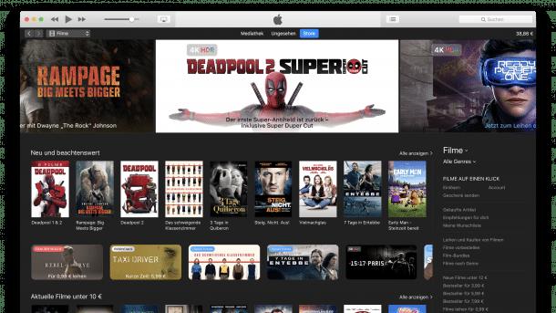 iTunes Store Filme