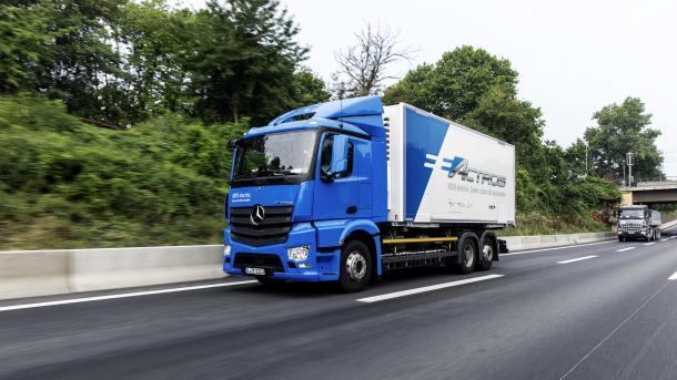 Daimler-Truck-Vorstand: E-Lkw auf langen Strecken im Nachteil
