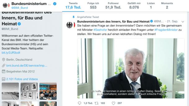 Twitternutzung von Behörden - FragDenStaat verklagt Innenministerium