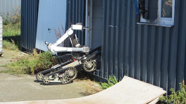 Roboterleistungsschau Elrob: Schwache Leistungen bei der Gebäudeaufklärung
