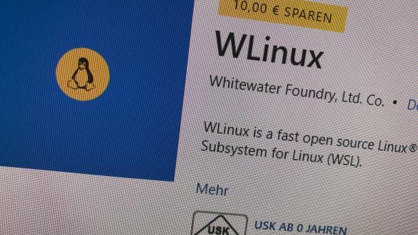 Bezahltes Linux für das Windows Subsystem for Linux