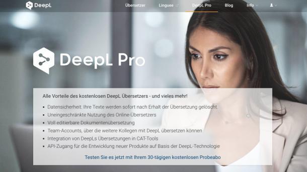 Online-Übersetzer: DeepL Pro wird günstiger