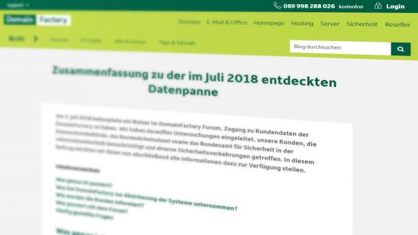 Domainfactory-Hack: Forum ist unsicher, Fragen bleiben unbeantwortet