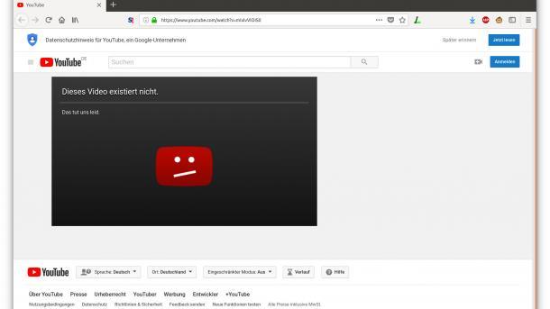 Youtube: Weltweiter Ausfall in der Nacht zum Mittwoch