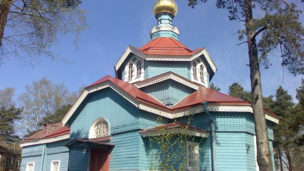russische Kirche aus Holz