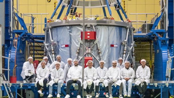 Orion-Antriebsmodul übergeben - Neuer Mondflug rückt nähe