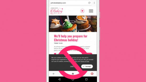 Android-Browser: Opera 48 blockiert Cookie-Hinweise