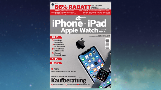 c't iPhone, iPad, Apple Watch mit attraktiven Exklusivrabatten