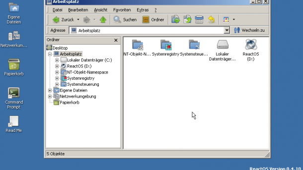 Windows-Klon: ReactOS 0.4.10 bootet jetzt auch von Btrfs-Partitionen