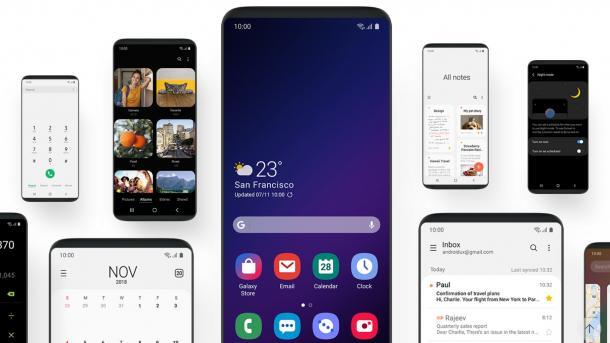 Minimalistischer und mit Nachtmodus: Samsung-Benutzeroberfläche One UI im Hands-on