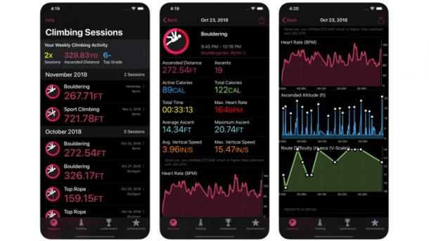 Klettern mit der Apple Watch – auf 30 cm genau