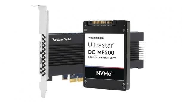 WD Ultrastar DC ME200 Memory Extension Drive in den Bauformen PCIe-Karte und U.2-SSD.