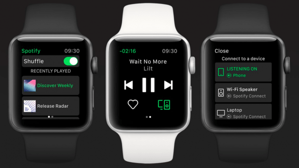 Spotify auf der Apple Watch