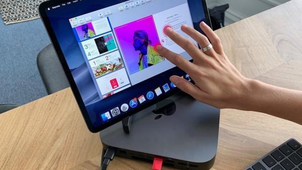 Mac mini mit iPad Pro als Touchscreen