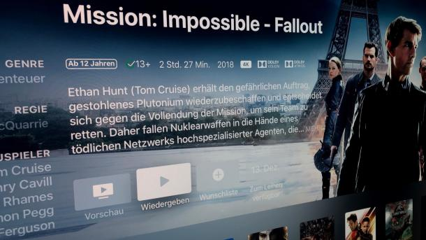 """""""Mission: Impossible - Falout"""": Deutscher Atmos-Ton nur bei iTunes"""
