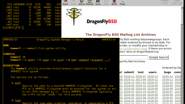DragonFly BSD 5.4 mit GCC8 und verbessertem NUMA