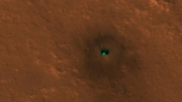 NASA-Sonde Insight aus dem Orbit fotografiert