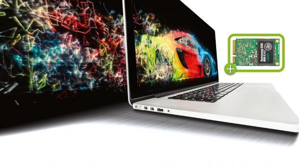 MacBook Pro und Air beschleunigen: Flinke Standard-SSDs per Adapter einbauen