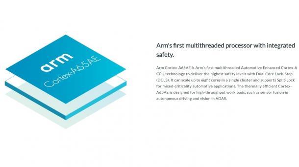 "ARM Cortex-A65AE ""Automotive Enhanced"" mit Simultaneous Multi-Threading (SMT)"
