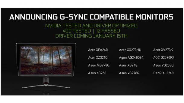 G-Sync auch mit FreeSync-Displays