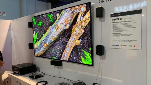 HDMI-2.1-Demo: 8K-Videos mit 60 Hertz an Samsung-TV